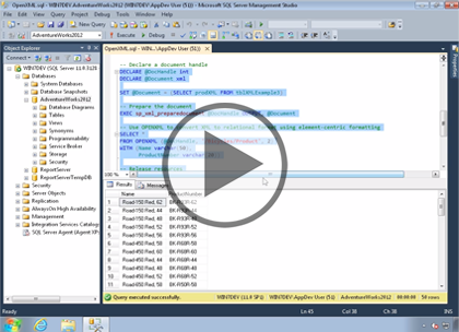 SQL 2014 Developer: Working with XML Trailer